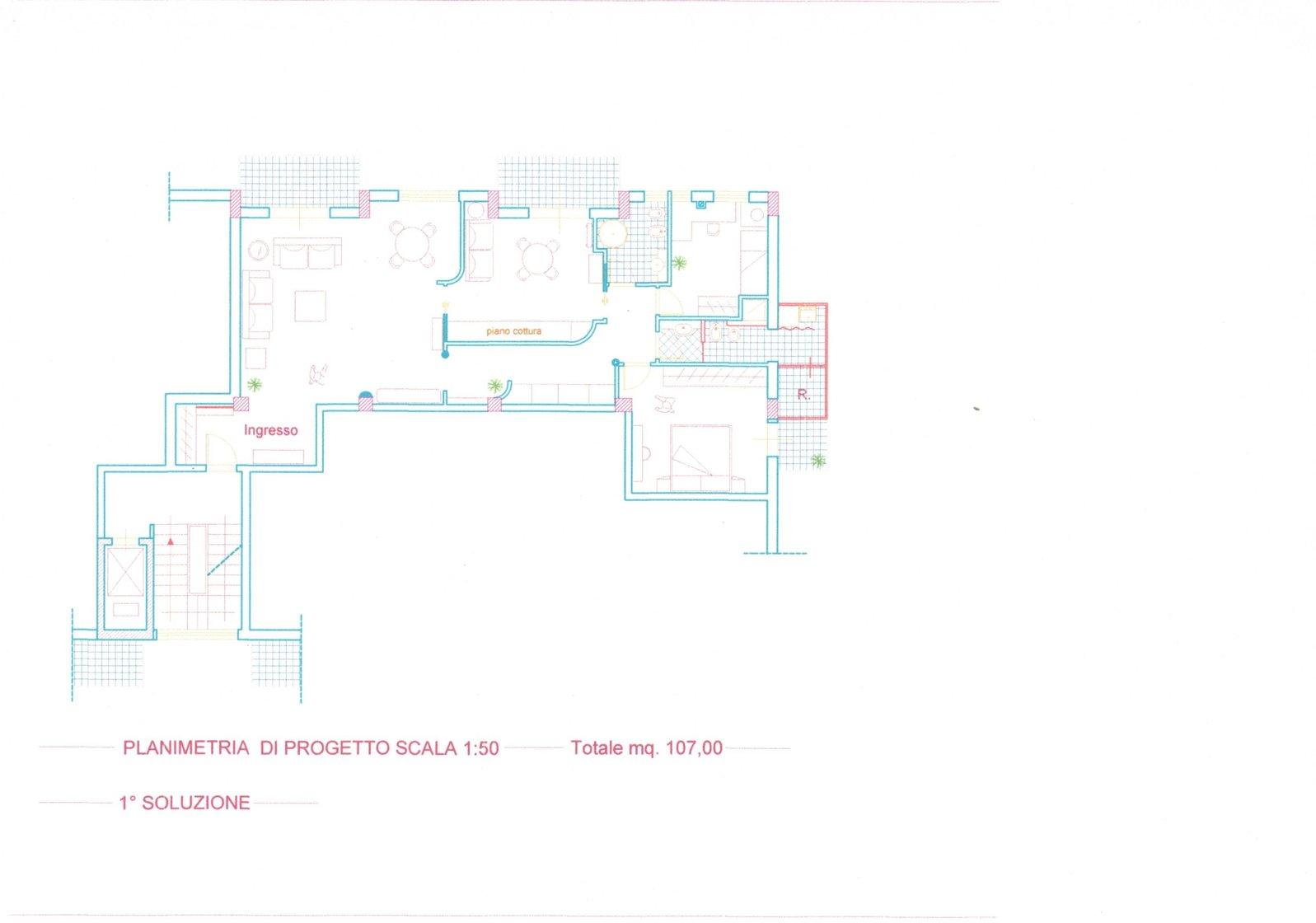 Progetto Appartamento 50 Mq www.samprogettipalermo.it - casa h